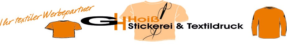 Onlineshop-Stickerei Hoiss